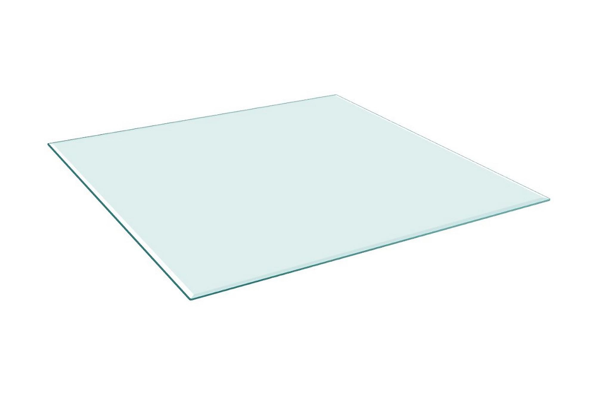 Bordsskiva härdat glas kvadratisk 700x700 mm, Bordsben & tillbehör