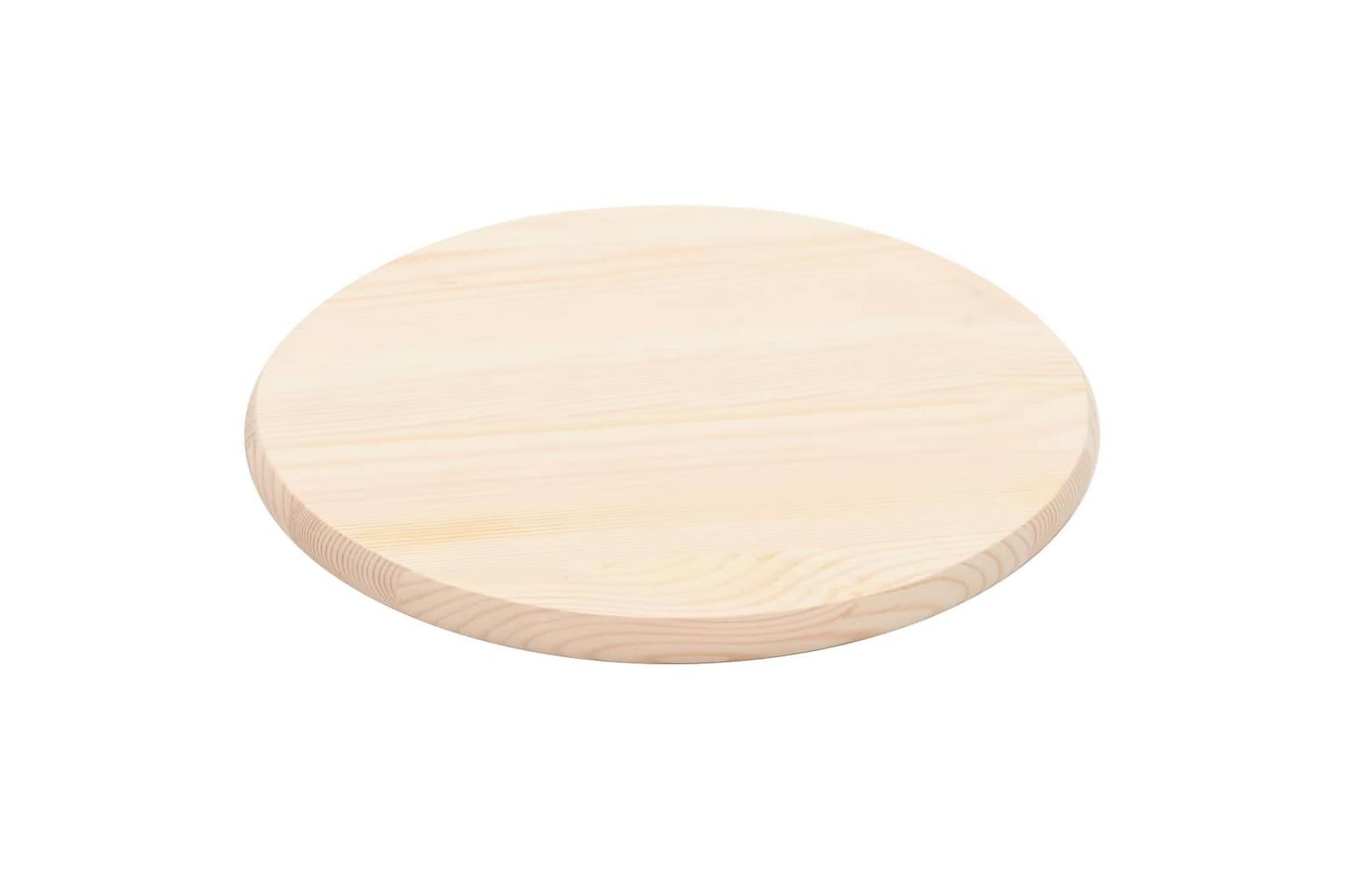 Bordsskiva naturlig furu rund 25 mm 50 cm, Bordsben & tillbehör
