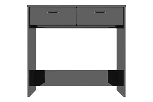 Skrivbord svart högglans 80x40x75 cm spånskiva, Datorbord thumbnail