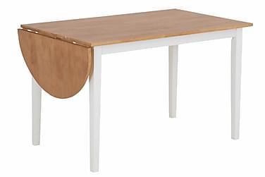 CLIVIO Förlängningsbart Matbord 120 Ek/Vit