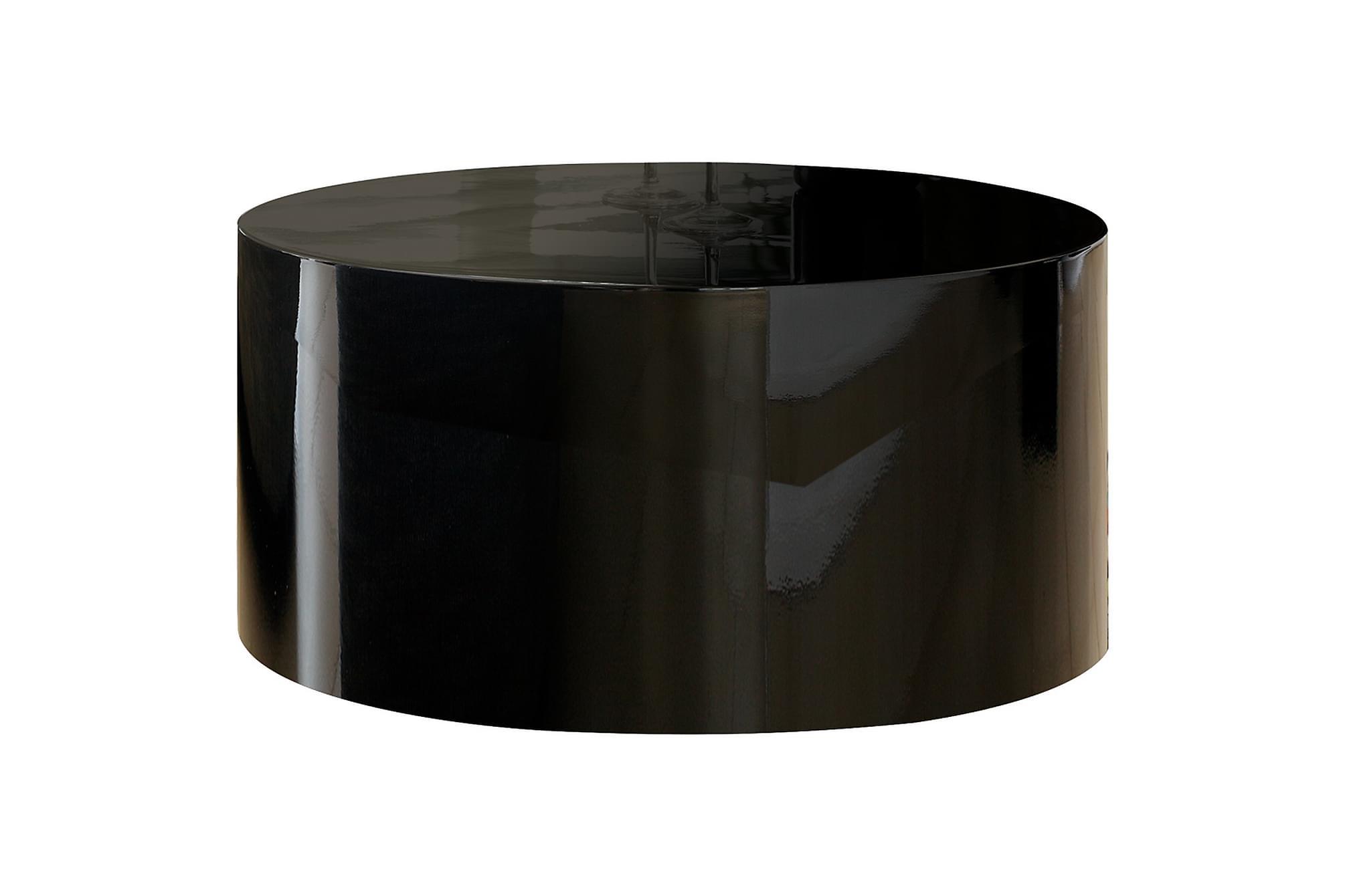 Soffbord of 60 cm round black