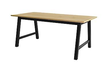 BACHRU Förlängningsbart Matbord 180 Beige/Svart