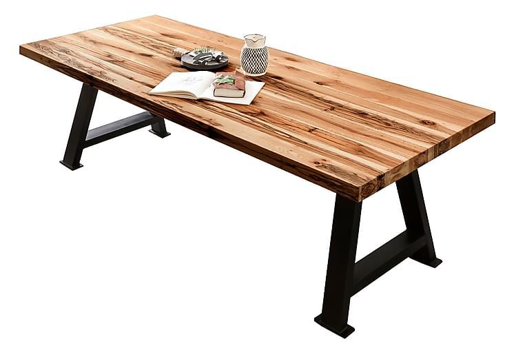 BAMRA Matbord 180x100 cm Ek/Svart - Möbler & Inredning - Bord - Matbord