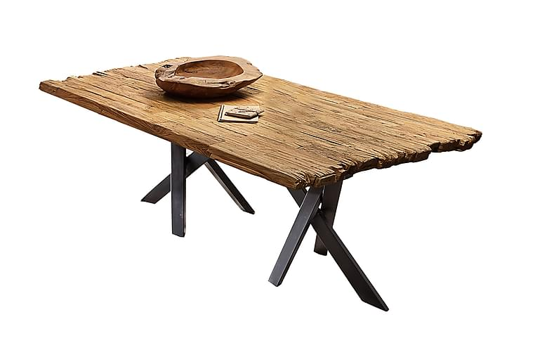 BAMRA Matbord 200x100 cm Återvunnen Teak/Svart - Möbler & Inredning - Bord - Matbord