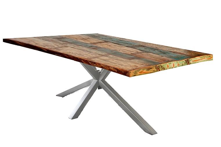 BAMRA Matbord 200x100 cm Återvunnet Trä/Flerfärgad/Silver - Möbler & Inredning - Bord - Matbord
