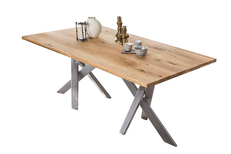BAMRA Matbord 200x100 cm Ek/Silver - Möbler & Inredning - Bord - Matbord