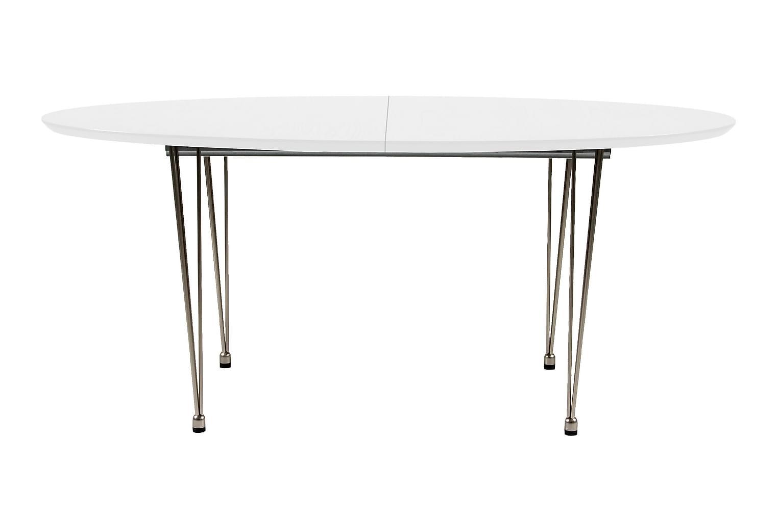 Bellton BELLTON Förlängningsbart bord 170 Vit/Trådben -