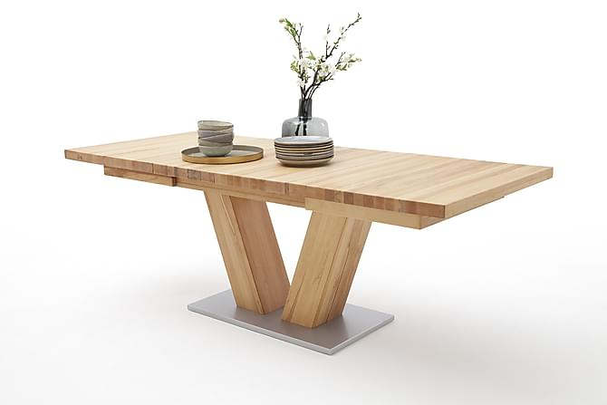 CARLEJU Förlängningsbart Matbord 180 Trä/Natur - Inomhus - Bord - Matbord