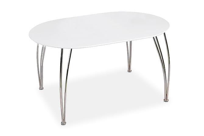 CELLINI Förlängningsbart Matbord 140 Oval Vit - Möbler & Inredning - Bord - Matbord