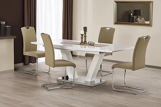 MANGINI Förlängninsbart Matbord 160 Vit - Möbler & Inredning - Bord - Matbord