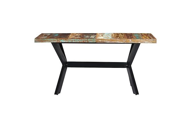 Matbord 160x80x75 cm massivt återvunnet trä - Flerfärgad - Inomhus - Bord - Matbord
