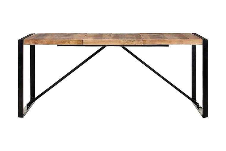 Matbord 180x90x75 cm massivt trä med sheshamfinish - Brun - Möbler & Inredning - Bord - Matbord