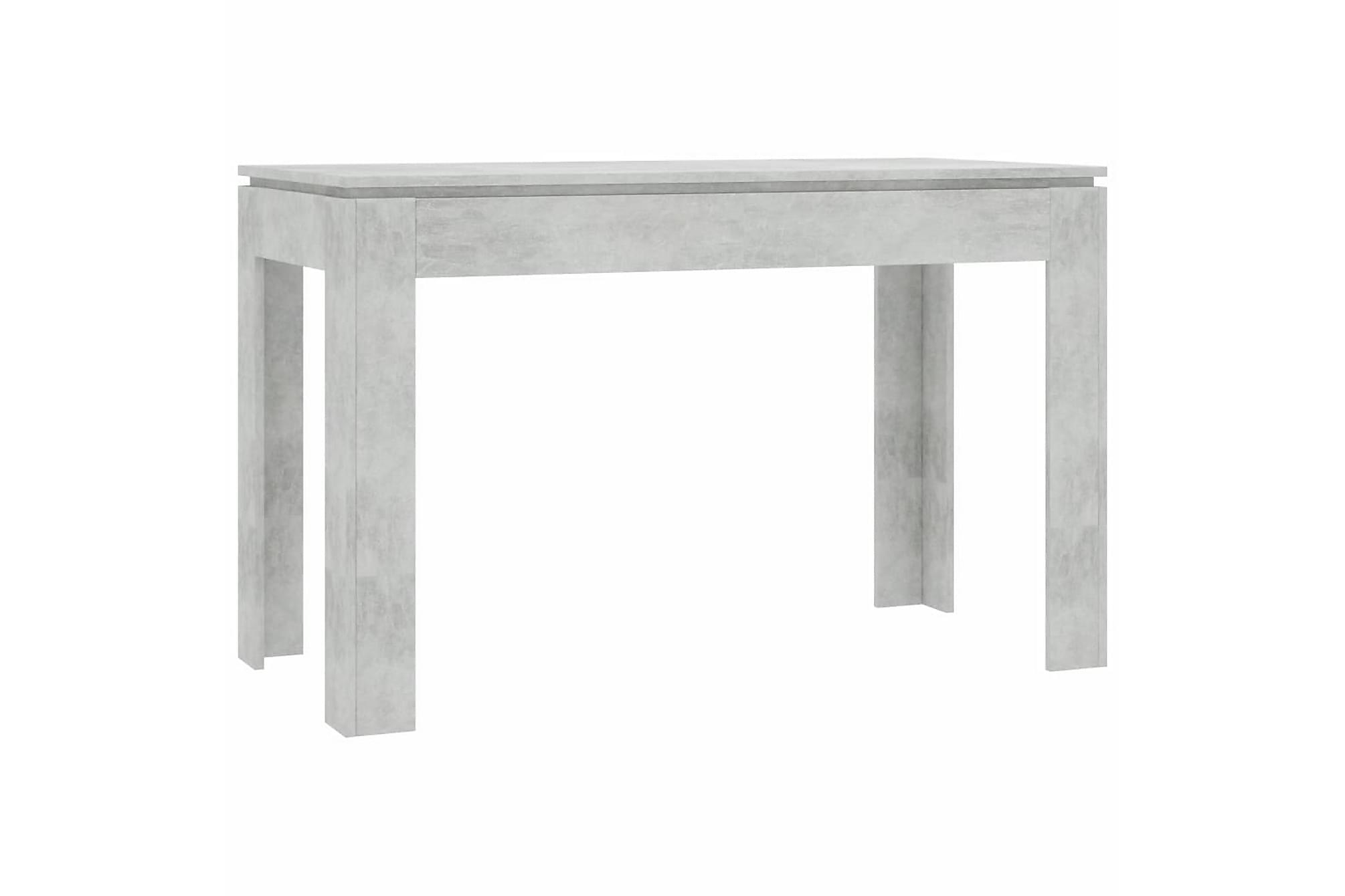 Matbord betonggrå 120x60x76 cm spånskiva