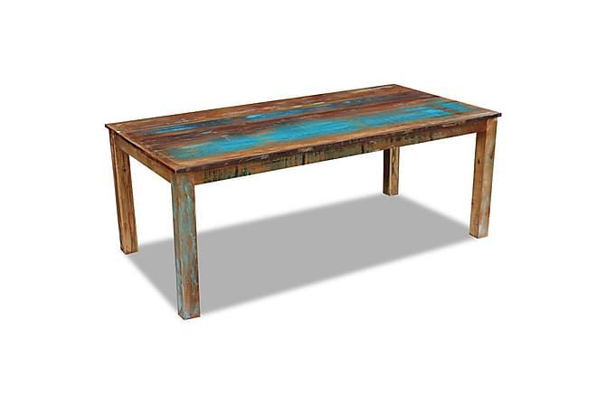 Matbord massivt återvunnet trä 200x100x76 cm - Flerfärgad - Möbler & Inredning - Bord - Matbord