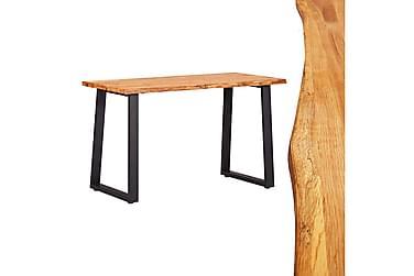 Matbord naturlig 120x65x75 cm massiv ek