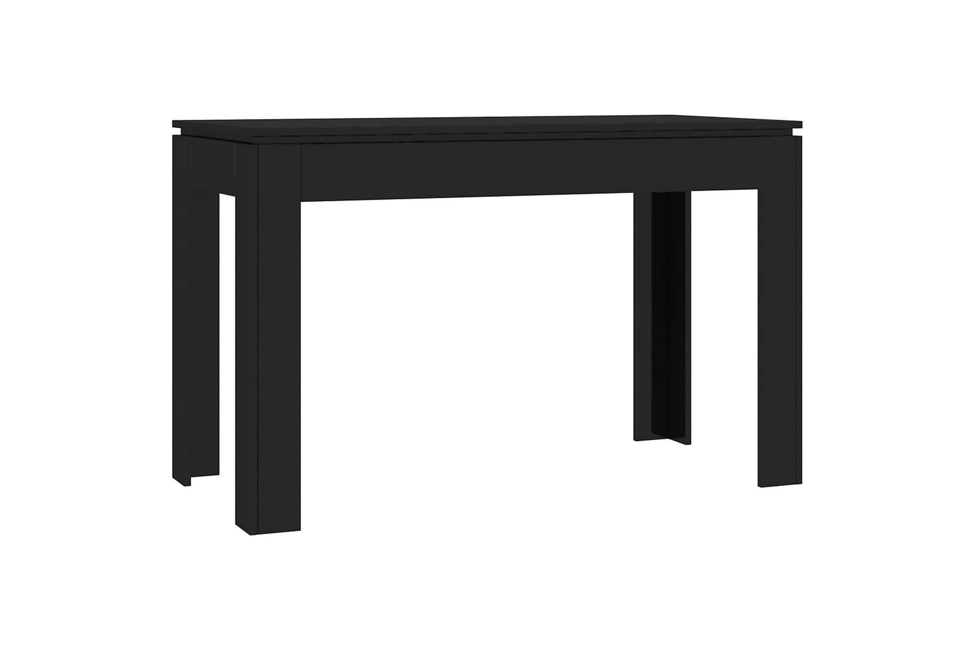 Matbord svart högglans 120x60x76 cm spånskiva