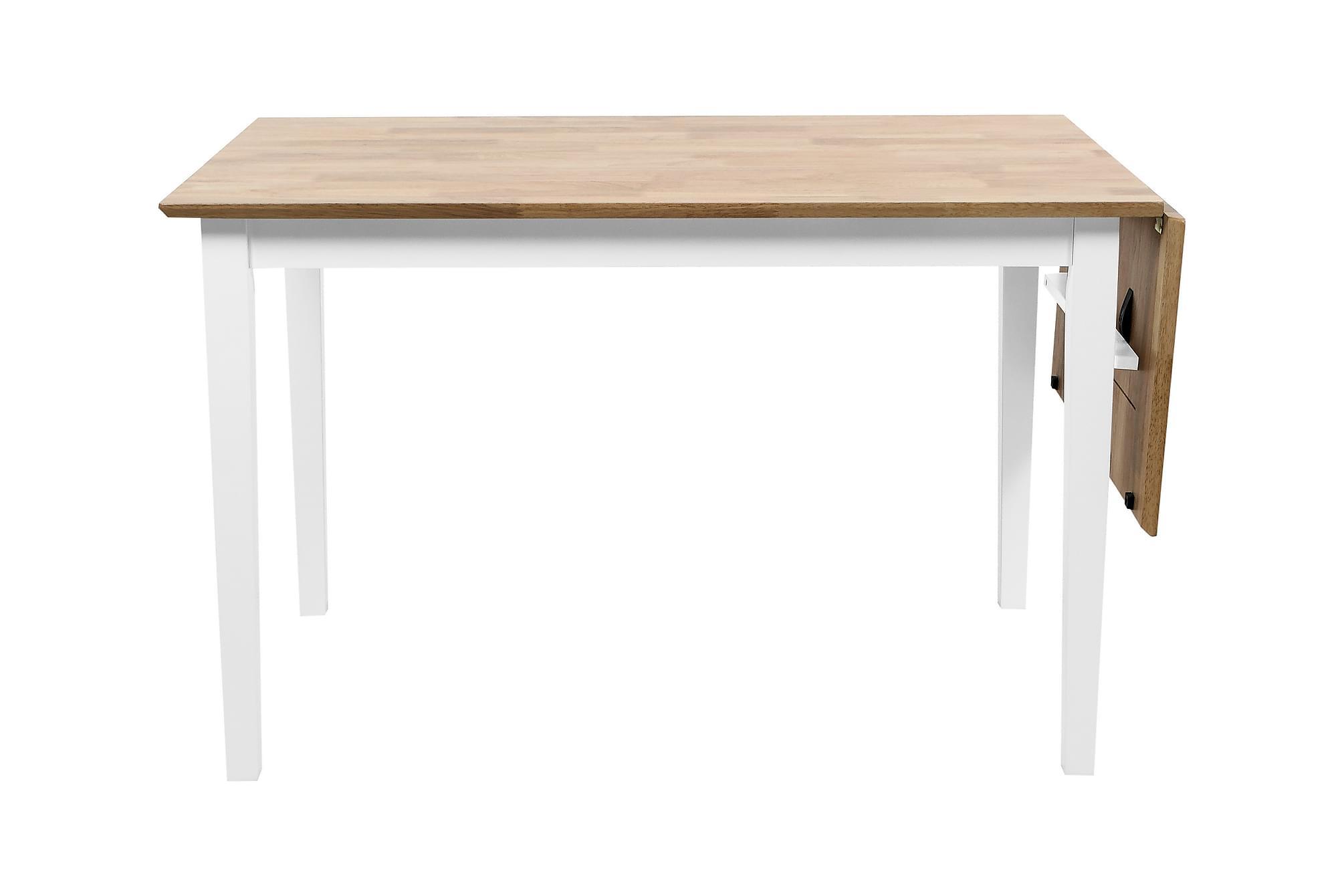MOA Förlängningsbart Matbord 120 Trä/Vit