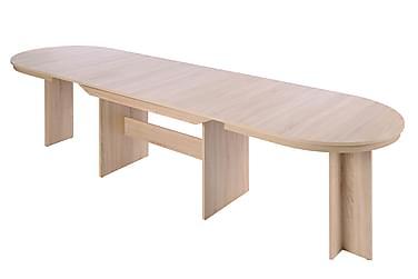 STROMBY Matbord Förlängningsbart Oval Brun