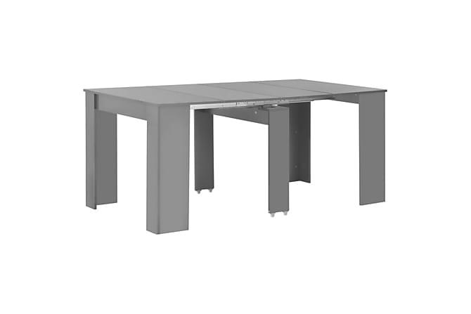 Utdragbart matbord grå högglans 175x90x75 cm - Grå - Möbler & Inredning - Bord - Matbord