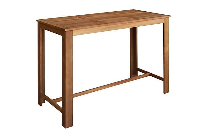 Barbord med barstolar 7 delar massivt akaciaträ - Brun - Möbler & Inredning - Bord - Matgrupper