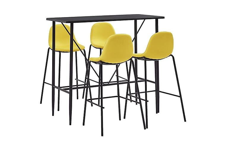 Bargrupp 5 delar tyg gul - Gul - Möbler & Inredning - Bord - Matgrupper