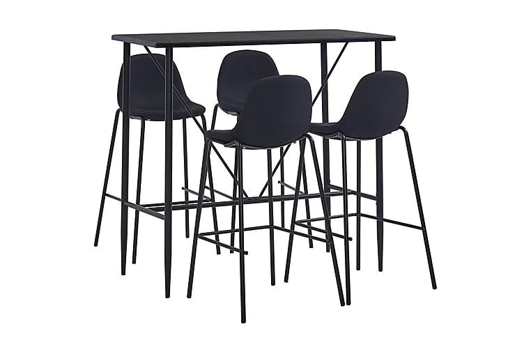 Bargrupp 5 delar tyg svart - Svart - Möbler & Inredning - Bord - Matgrupper