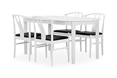BERGSTRÖM Förlängningsbart Matbord 200 Vit + 4 EVEN Stol Vit