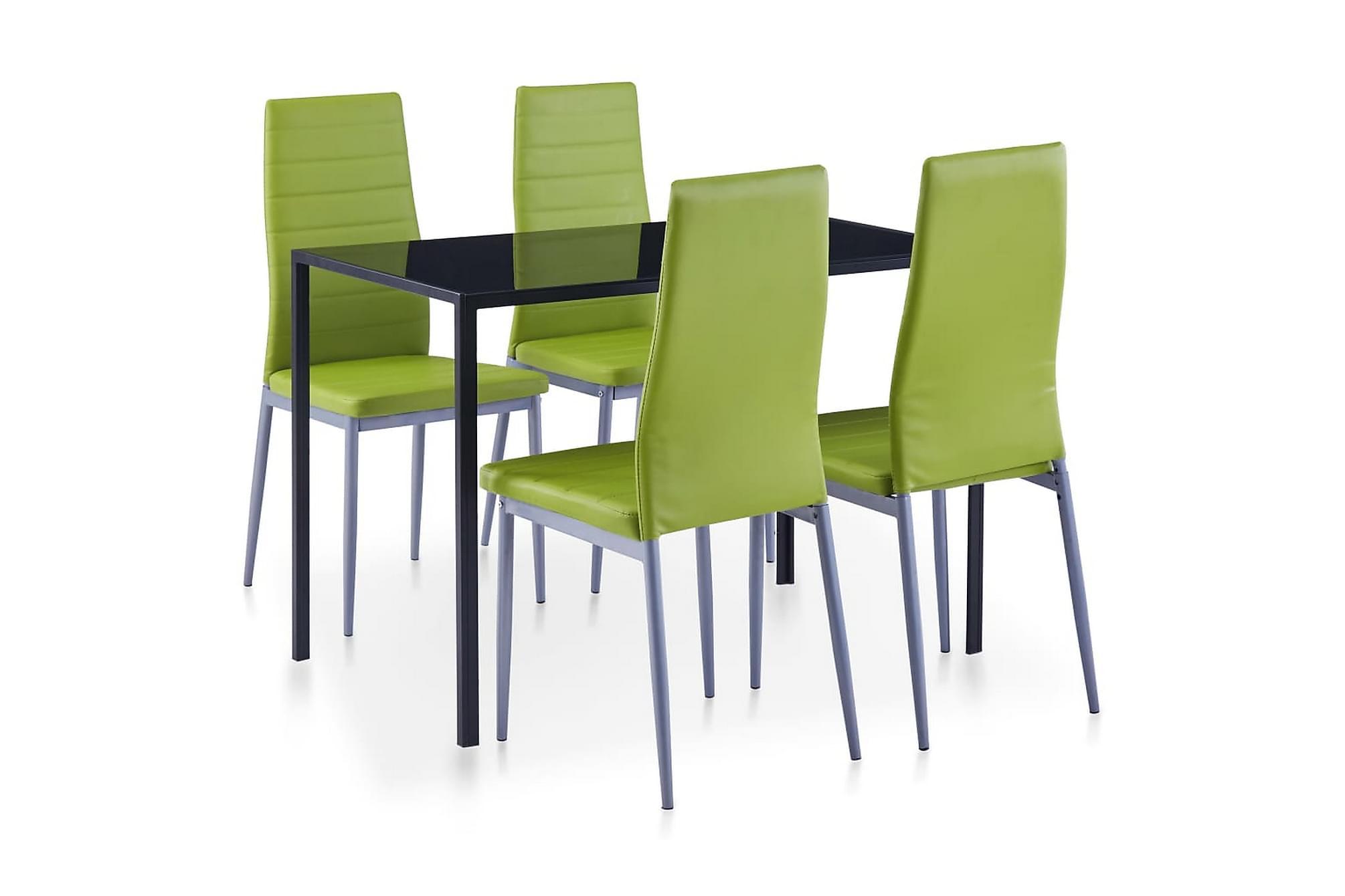 Matbord och stolar 5 delar grön