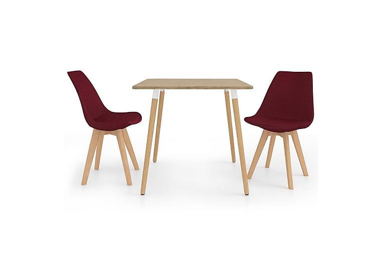 Matgrupp 3 delar vinröd - Röd - Möbler & Inredning - Bord - Matgrupper