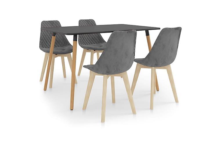 Matgrupp 5 delar grå - Grå - Möbler & Inredning - Bord - Matgrupper