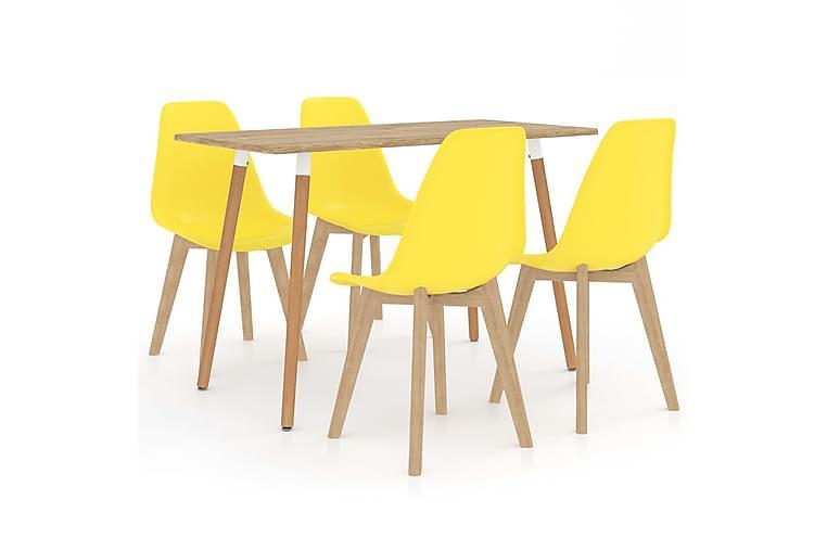 Matgrupp 5 delar gul - Gul - Möbler & Inredning - Bord - Matgrupper