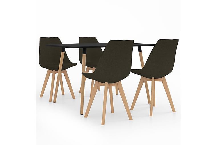 Matgrupp 5 delar mörkbrun - Brun - Möbler & Inredning - Bord - Matgrupper
