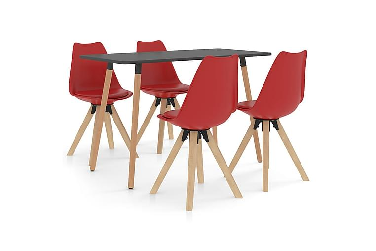 Matgrupp 5 delar röd - Röd - Möbler & Inredning - Bord - Matgrupper