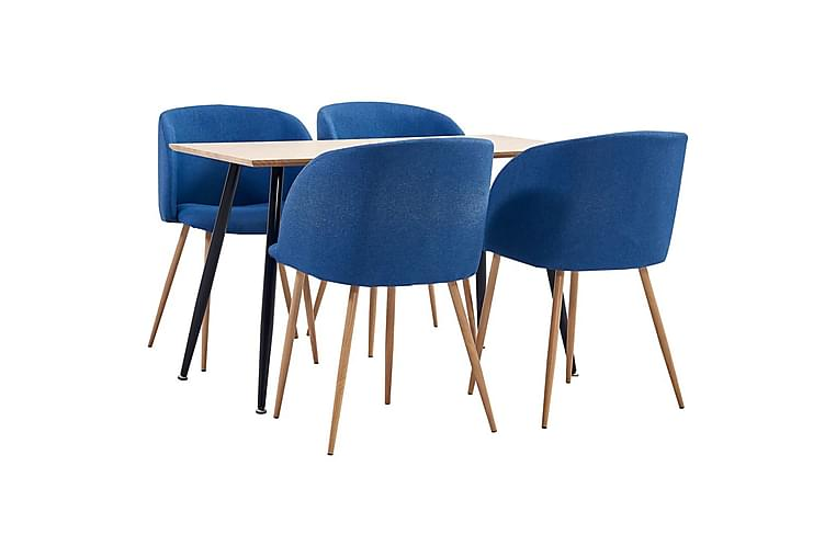 Matgrupp 5 delar tyg blå - Blå - Möbler & Inredning - Bord - Matgrupper