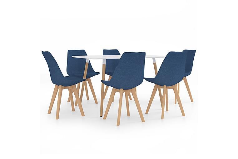 Matgrupp 7 delar blå - Blå - Möbler & Inredning - Bord - Matgrupper