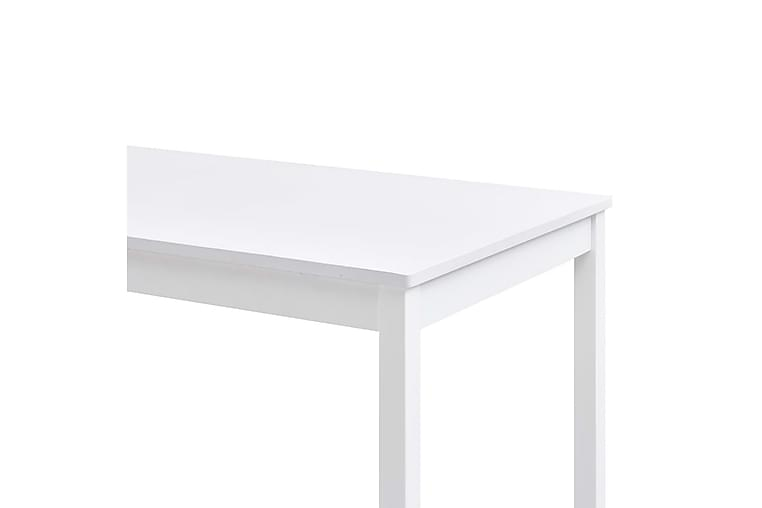 Matgrupp 7 delar furu vit - Vit - Möbler & Inredning - Bord - Matgrupper