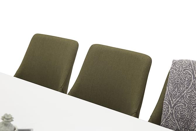 NAMI Matbord 220 Vit + 6 PEDER Stol Grön/Ek - Inomhus - Bord - Matgrupper