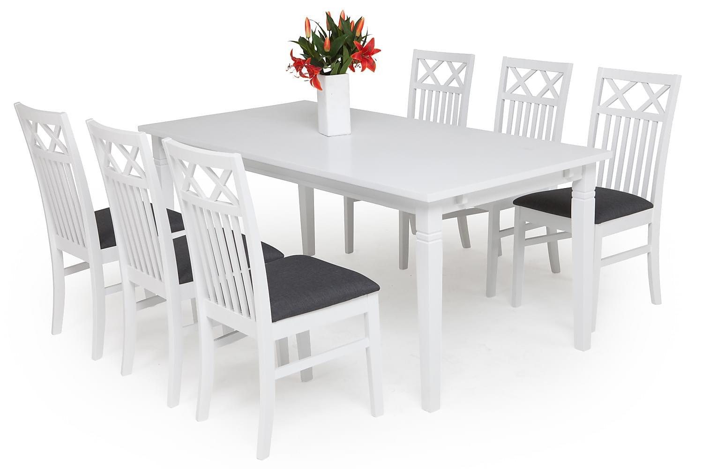 Redmond REDMOND Matbord 180 + 6 stolar Vit -
