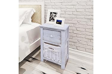 BENGAL Sängbord Låda + Korg 28x31 Vit