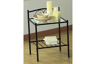 BERNARDO Sängbord 43 Glas/Stål