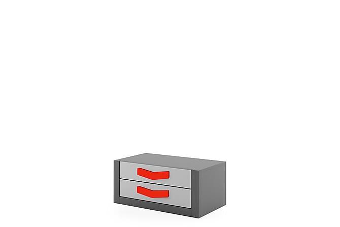 Bumerang Sängbord 40x42x50 cm - Röd - Inomhus - Bord - Sängbord