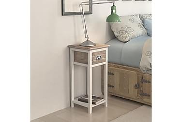 HEPBURN Sängbord Låda 30x30 Vit/Brun