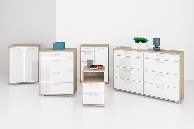 JOSETTE Sängbord 64 Ek/Vit - Inomhus - Bord - Sängbord