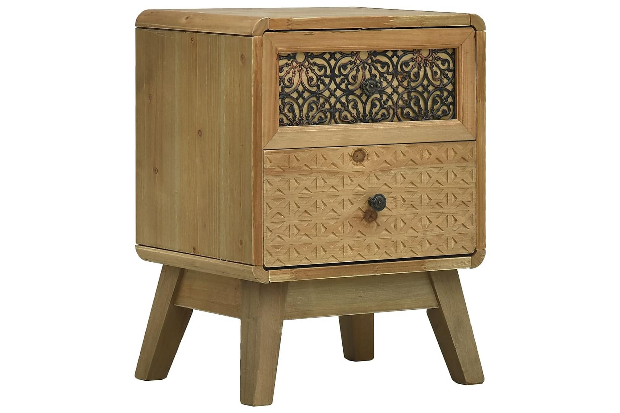 Nattduksbord brun 37x30x51 cm trä