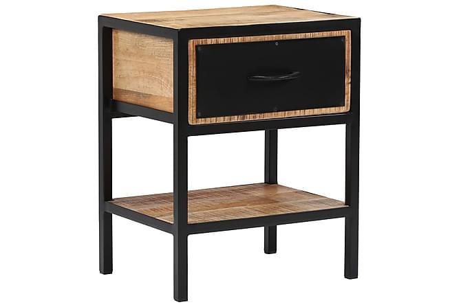 Nattduksbord massivt mangoträ 40x30x50 cm - Brun - Möbler & Inredning - Bord - Sängbord