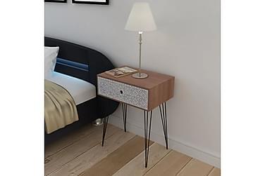 POMSKY Sängbord Låda 44x31 Brun