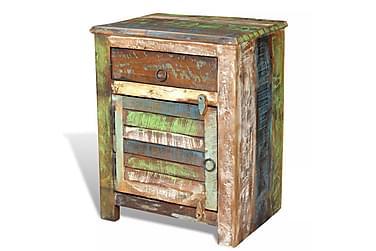 PRESIDENT Sängbord Låda + Lucka 45x33 Återvunnet Trä