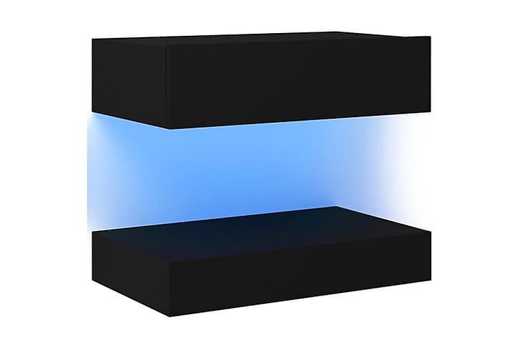 Sängbord 2 st svart 60x35 cm spånskiva - Svart - Möbler & Inredning - Bord - Sängbord
