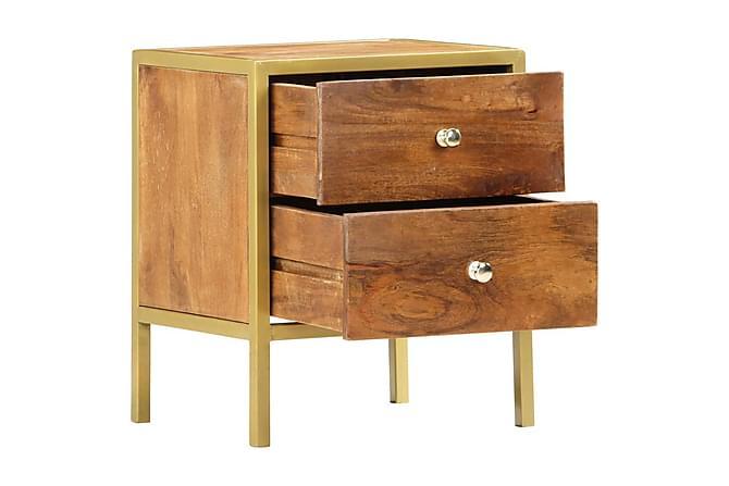 Sängbord 40x35x50 cm massivt mangoträ - Brun - Möbler & Inredning - Bord - Sängbord