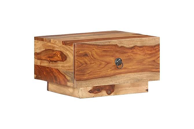 Sängbord 40x40x25 cm massivt shesamträ - Brun - Möbler & Inredning - Bord - Sängbord